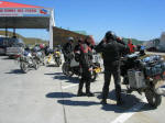 Argentinian border post at San Sebastian with USFinnish riders