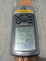 GPS reading on the equator line
