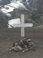 Grave on Deception Island at Whaler's Bay
