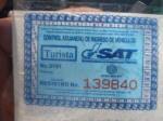 My Guatemalan tax disc